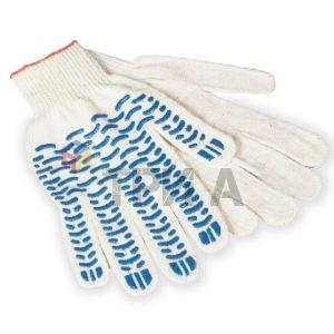 перчатки трикотажные с ПВХ 10 класс 6 нитей